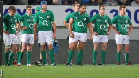 Ireland were beat 42-10 by New Zealand in the first Test in Auckland