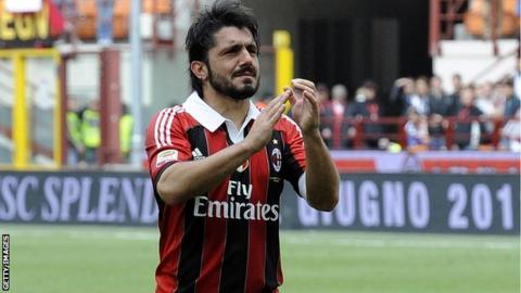 Rino Gattuso says his farewells to the AC Milan fans
