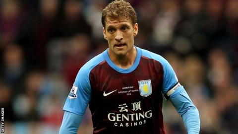 Aston Villa club captain Stiliyan Petrov