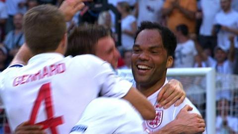 Joleon Lescott gives England the lead