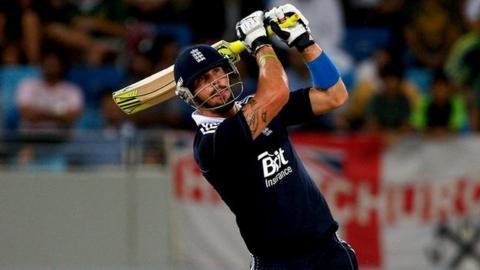 Kevin Pietersen playing Twenty20 for England