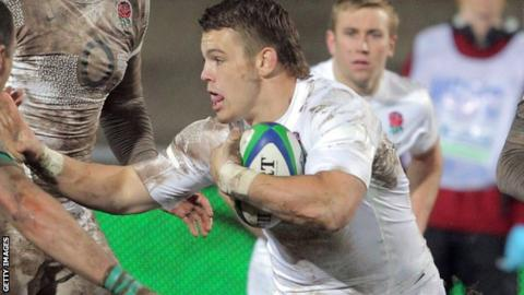 Luke Cowan-Dickie in action for England at the 2012 Junior World Cup