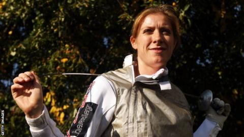 British fencer Anna Bentley