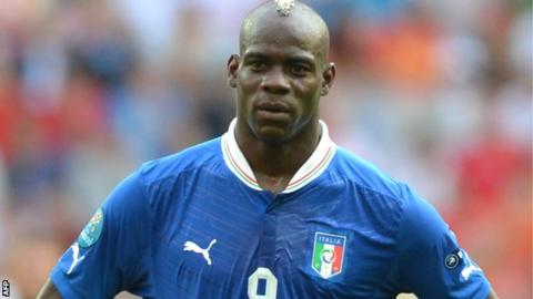 Italy striker Mario Balotelli