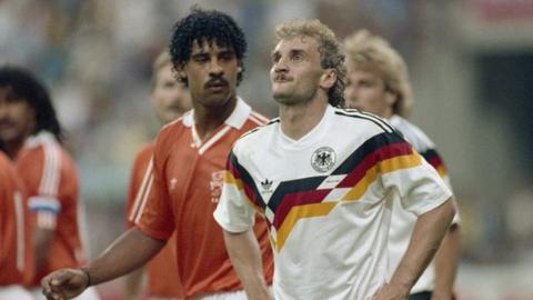 Rudi Voller and Frank Rijkaard