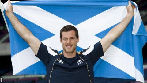 Scotland player Tim Visser