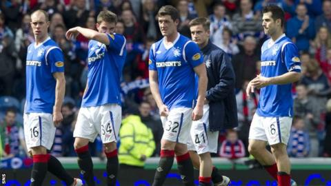 Rangers players face an uncertain future with the club facing liquidation