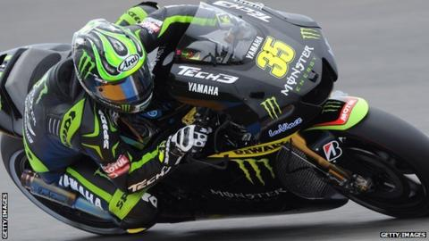 Cal Crutchlow on his Yamaha