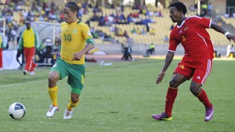 South Africa in action against Ethiopia