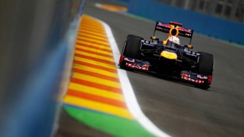Sebastian Vettel at Valencia