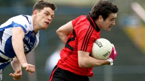 Kevin McKernan in action against Monaghan