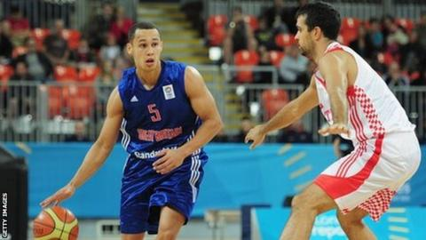 Andrew Lawrence (left) of Team GB basketball