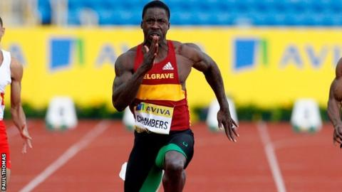 GB sprinter Dwain Chambers