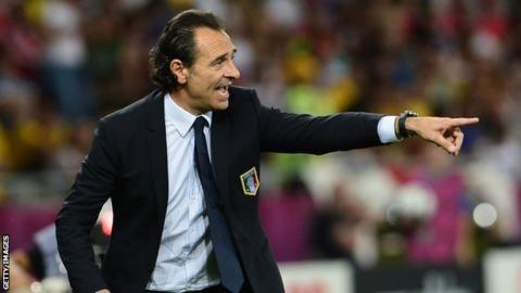 Italy manager Cesare Prandelli