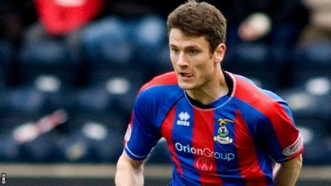 Inverness midfielder Owain Tudur Jones