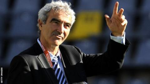 Raymond Domenech as France coach in 2010