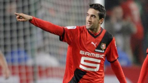 Morocco's Youssouf Hadji in action for Rennes
