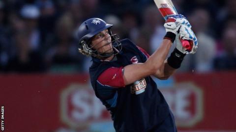 Sam Northeast batting for Kent against Middlesex