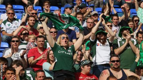 London Irish fans