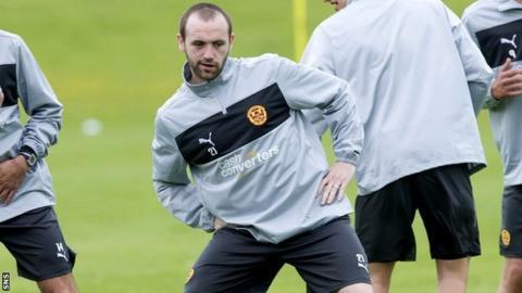 James McFadden training with Motherwell