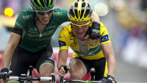 Pierre Rolland and Thomas Voeckler