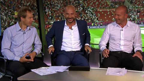 Jurgen Klinsmann, Gianluca Vialli and Alan Shearer