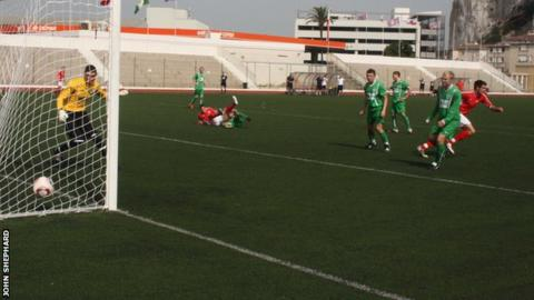 Craig Russell opens the scoring for Jersey