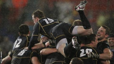 Scotland celebrate after beating Australia