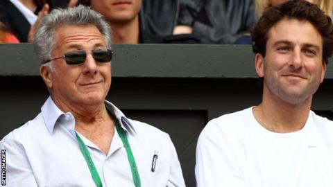 Dustin Hoffman enjoys day six of Wimbledon
