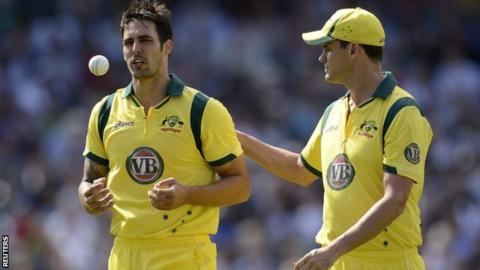 Mitchell Johnson and Clint McKay