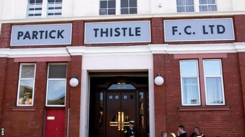 Partick Thistle are opposed to a newco Rangers entering Division One