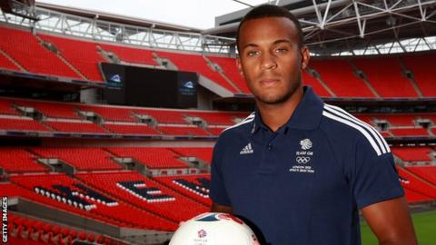 Ryan Bertrand is unveiled as a member of Team GB at Wembley