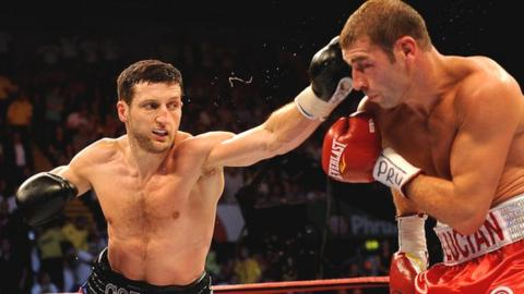 Carl Froch (left) and Lucian Bute (right)