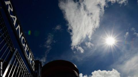 The sun shines on Ibrox