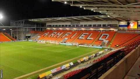 Bloomfield Road, home of Blackpool FC