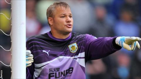 Burnley goalkeeper Brian Jensen