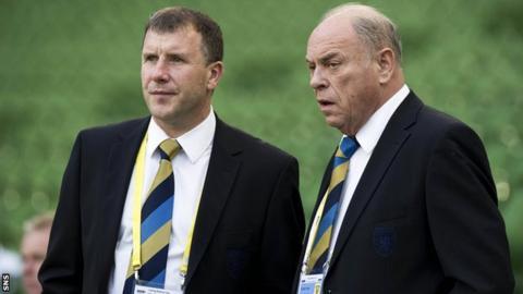 George Peat (left) with SFA chief executive Stewart Regan