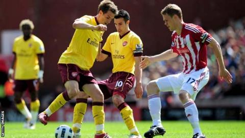 Aaron Ramsey and Ryan Shawcross