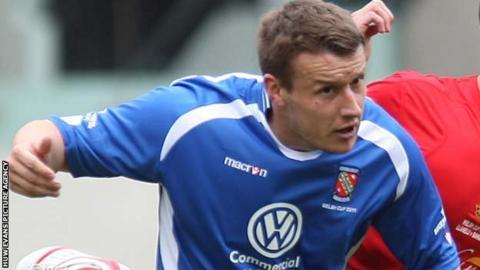 Bangor City forward Les Davies