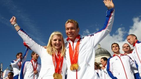Rebecca Adlington with Chris Hoy