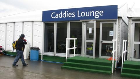 The caddies lounge at Castle Stuart Golf Links