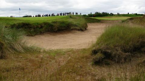 A bunker at Castle Stuart Golf Links