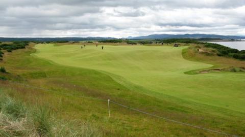The ninth fairway at Castle Stuart Golf Links