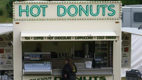 A Donut stand at Castle Stuart Golf Links