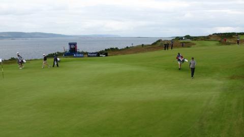 Jose Maria Olazabal and Alastair Forsyth at Castle Stuart Golf Links