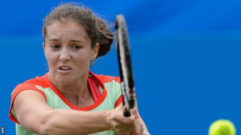 Laura Robson in action