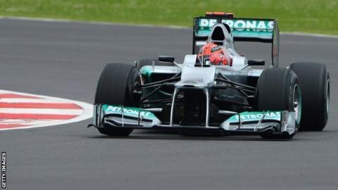 Michael Schumacher of Mercedes