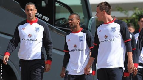 John Terry, Rio Ferdinand and Ashley Cole