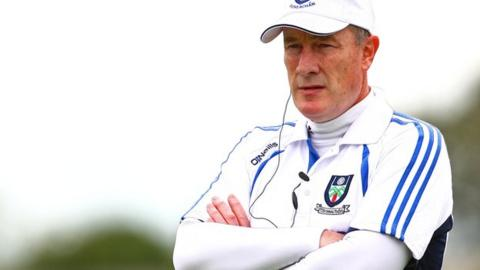 Eamonn McEneaney watches his Monaghan team in action against Laois on Sunday