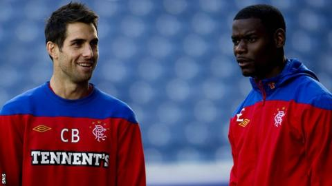 Carlos Bocanegra and Maurice Edu (left) are unlikely to return to Rangers